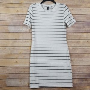 Divided by H&M   Striped Shirt Dress blk/whit 14